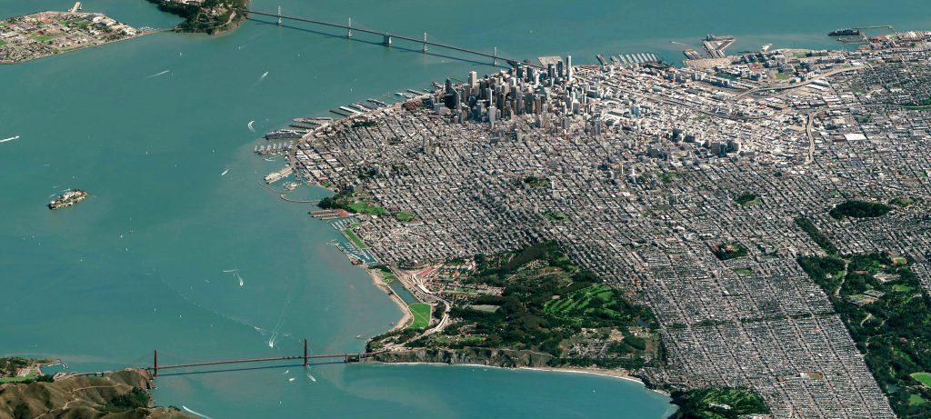 San Francisco imaged by DigitalGlobe's WorldView