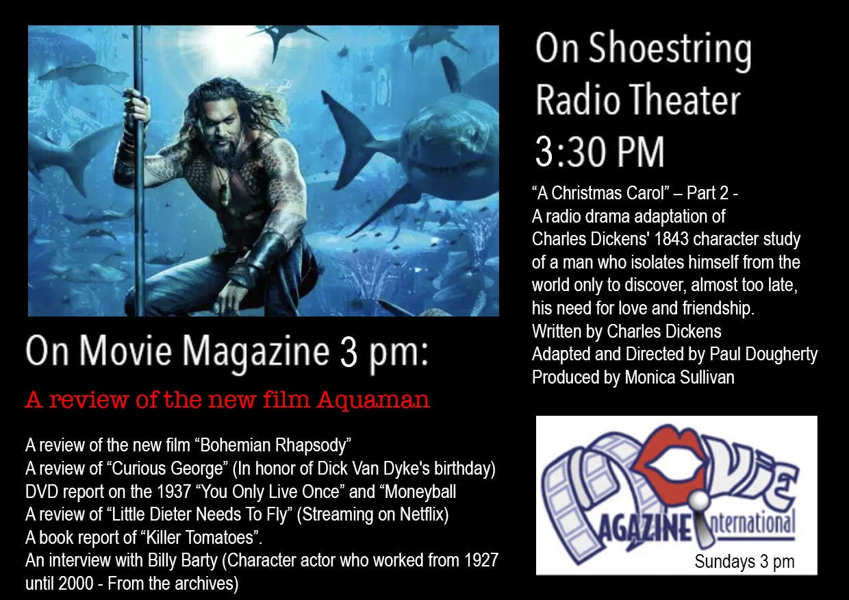 Movie Magazine and Shoestring Radio  Today at 3pm  – KXSF-LP